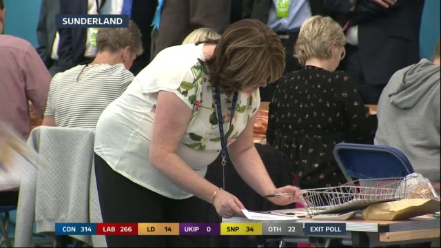 special 2155 2300 england sunderland various of count underway - general election stock videos & royalty-free footage