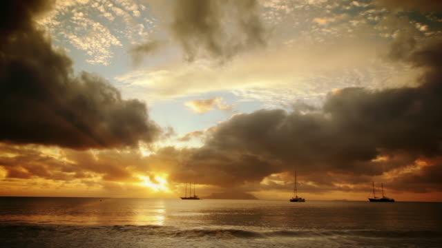 Sonnenuntergang. Beau Vallon Strand