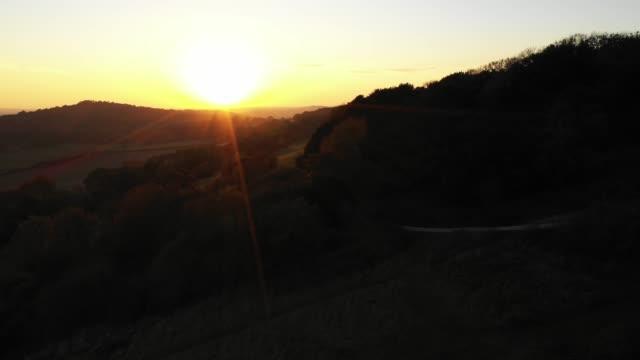 sundown - surrey hills - surrey england stock videos & royalty-free footage