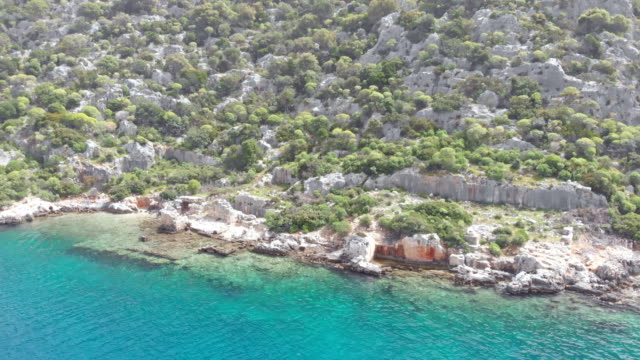 Sunken city in Kekova, Antalya