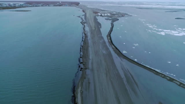sunken runway in kakovik, alaska usa - アラスカ点の映像素材/bロール