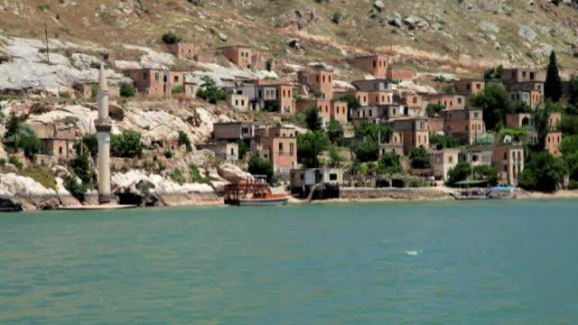 Sunken Village Savasan in Old Halfeti, Sanliurfa, Turkey