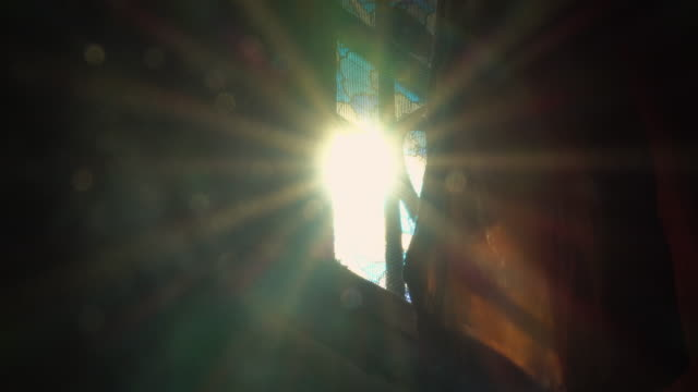 sunlight and flare from windows - curtain stock videos & royalty-free footage