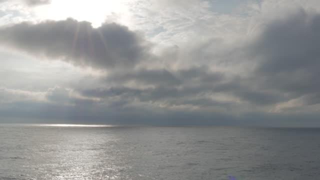 太陽の光の海の面
