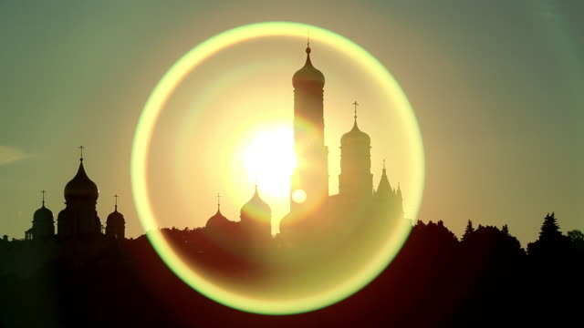 sunlight over kremlin palace in moscow, russia - palace stock videos & royalty-free footage