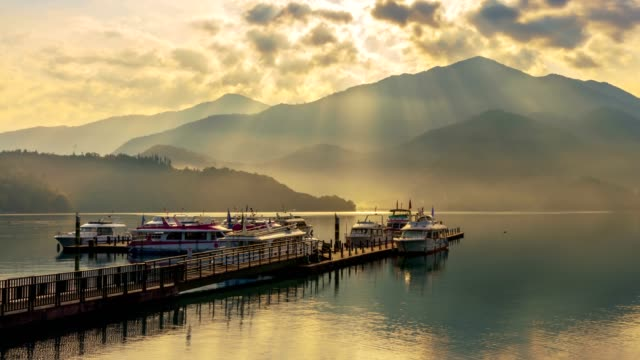 Sunlight rays of Sun Moon Lake, Nantou, Taiwan