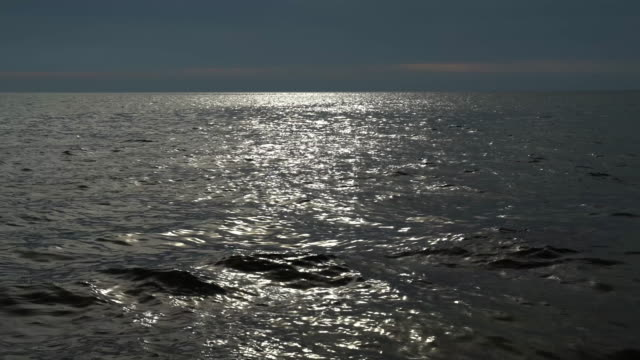 sunlight reflecting off rippled sea water surface - horizon over water stock videos & royalty-free footage