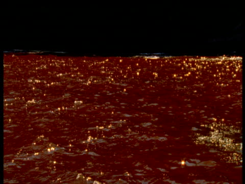 sunlight reflects off red tide, panama - red tide stock videos & royalty-free footage