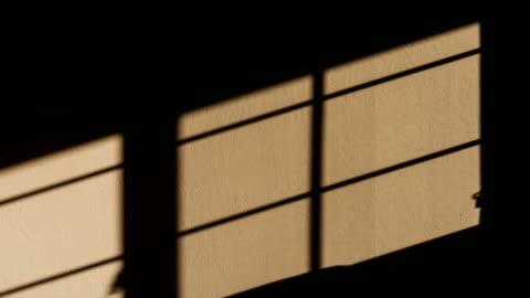 壁4k dciの太陽光シェードモーション - 影のみ点の映像素材/bロール
