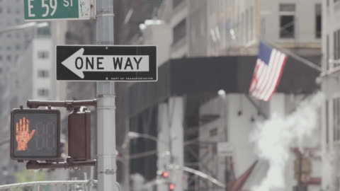 a sunlit new york city avenue. - one way stock videos & royalty-free footage