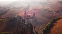 Sunlit winding road