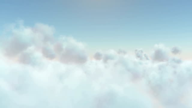 sunny above the clouds - cloudscape stock videos & royalty-free footage