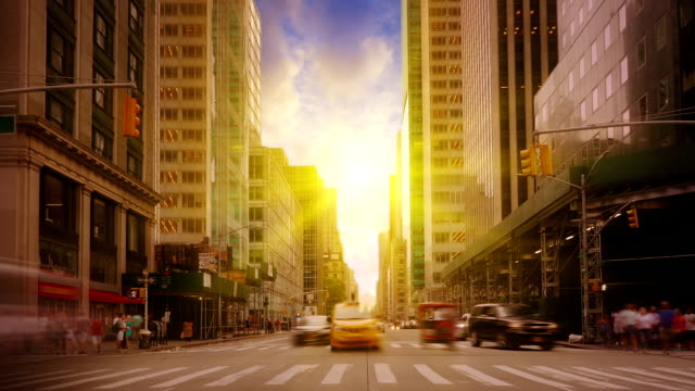 sunny avenue new york - manhattan new york city stock videos & royalty-free footage