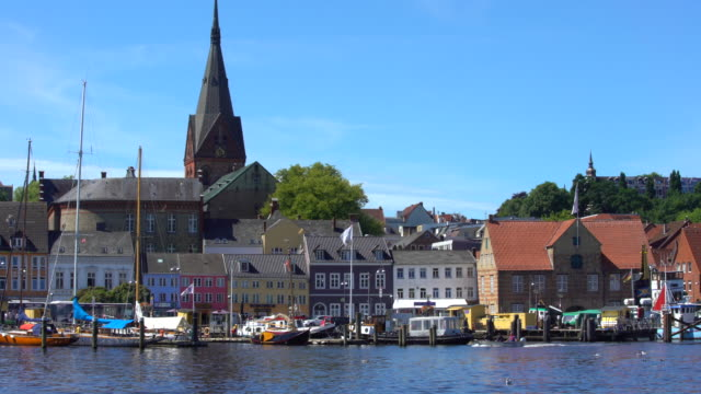 sunny day in flensburg, germany - schleswig holstein stock videos & royalty-free footage