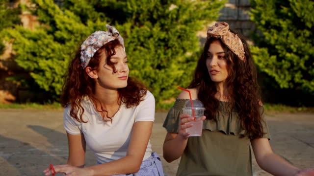 sunny day lemonade and talking - fizzy lemonade stock videos & royalty-free footage