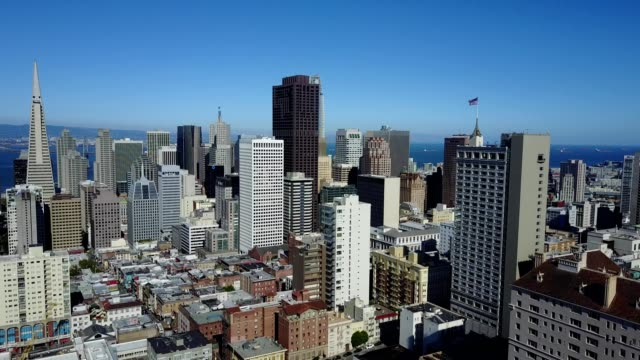 sunny day over san francisco skyline - san francisco california stock videos and b-roll footage