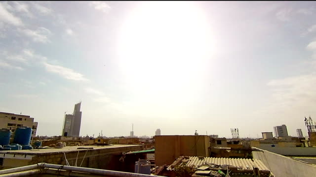 sunny day time-lapse - karachi stock videos and b-roll footage