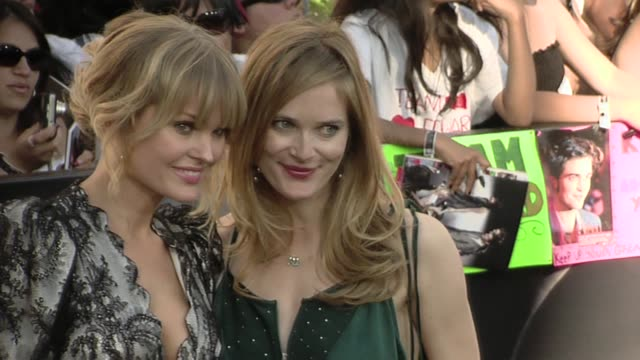 sunny mabrey and rachel blanchard at the 'the twilight saga eclipse' premiere at los angeles ca - rachel blanchard stock videos and b-roll footage