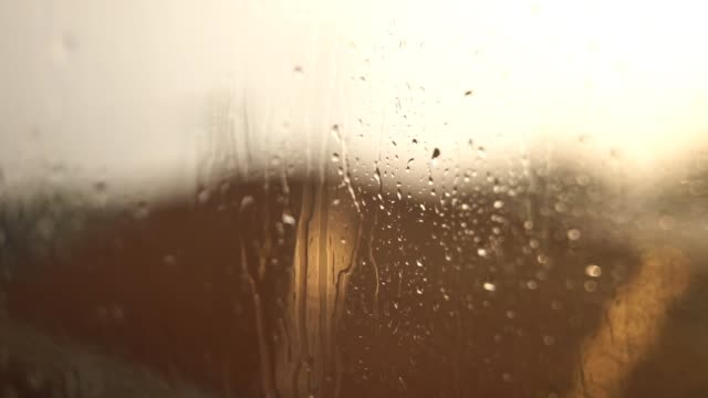 sunny rain through windowpane - yuko yamada stock videos & royalty-free footage