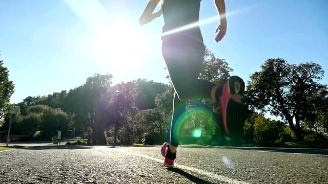 sunny running - jogging stock videos & royalty-free footage