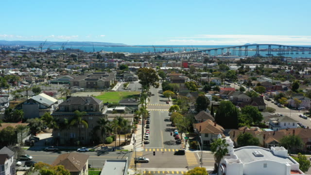 sunny san diego aerial view - san diego stock videos & royalty-free footage