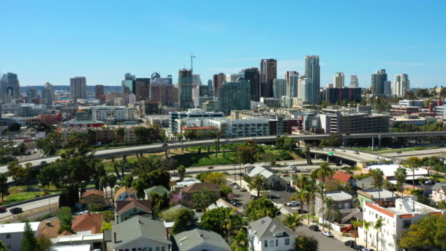 sunny san diego aerial view - san diego stock videos & royalty-free footage