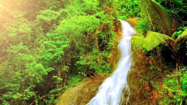Sonnigen tropischen Wasserfall