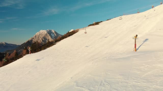 sunny winter day, perfect for skiing - ski flying stock videos and b-roll footage