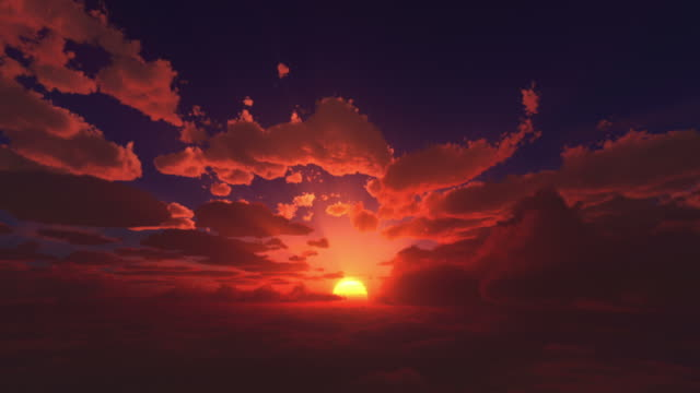 sunrise above the clouds - sunrise dawn stock videos & royalty-free footage
