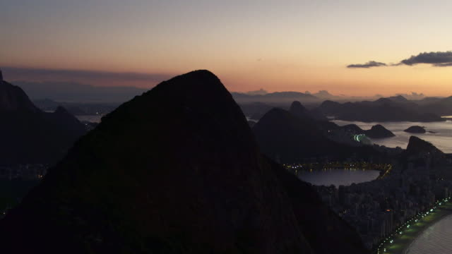 Sunrise -  aerial view of Lagoa Rodrigo de Freitas