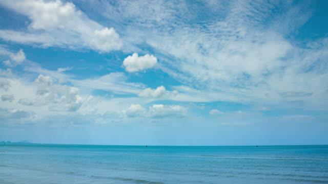 vídeos y material grabado en eventos de stock de salida del sol y las nubes moviéndose sobre mar - árbol tropical