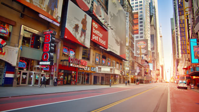 sunrise at 42nd street new york in conceptual symbol of rise restart economic and waiting crowd of tourist - conceptual symbol stock videos & royalty-free footage