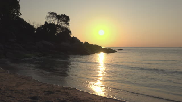sunrise at a bay - gulf of thailand stock videos & royalty-free footage
