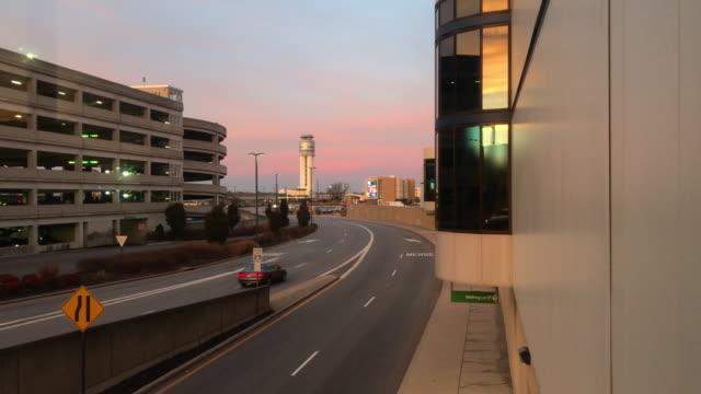Sunrise at airport