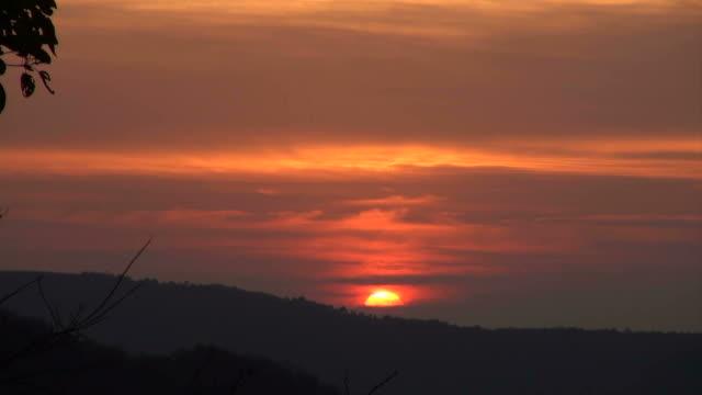 sunrise at gorukana, india - sunrise dawn stock videos & royalty-free footage