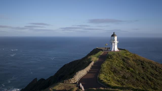vidéos et rushes de sunrise at lighthouse - région du northland