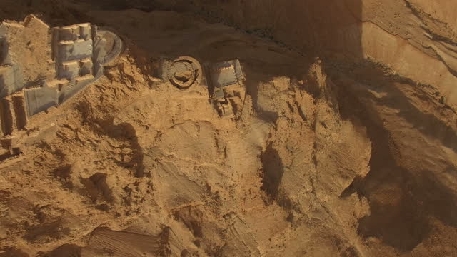 sunrise at masada / southern judea desert - archaeology stock videos & royalty-free footage