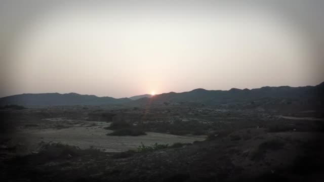 sunrise at mubarak village, pakistan - sindh pakistan stock videos and b-roll footage