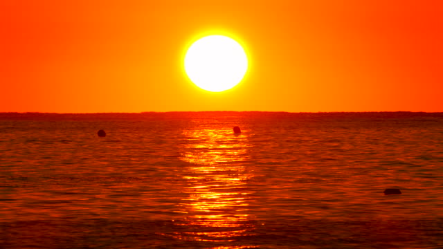sunrise at playa muro near port d' alcudia at morning mood, majorca, balearic islands, spain - horizon over water stock videos & royalty-free footage
