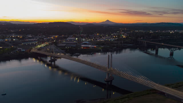 sunrise at portland, oregon - portland oregon stock videos & royalty-free footage