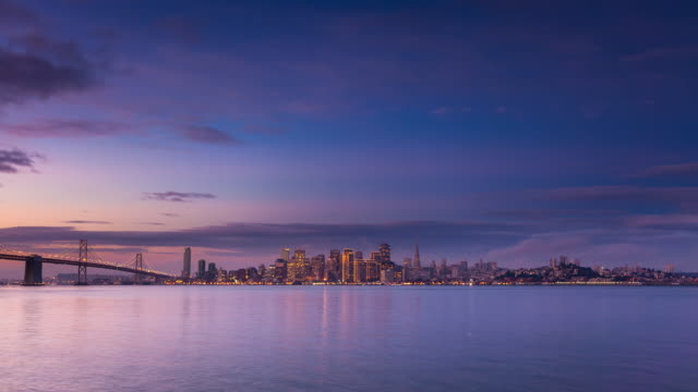 sunrise at san francisco bay - time lapse - san francisco bay area stock videos and b-roll footage