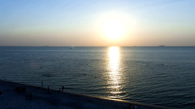 sunrise at sea time lapse - horizon over water stock videos & royalty-free footage