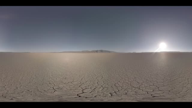 Sunrise at the Alvord Desert under a clear sky