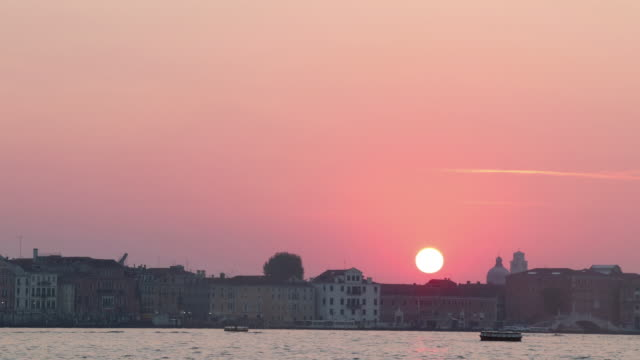 Sunrise at the city of venice in Italy,
