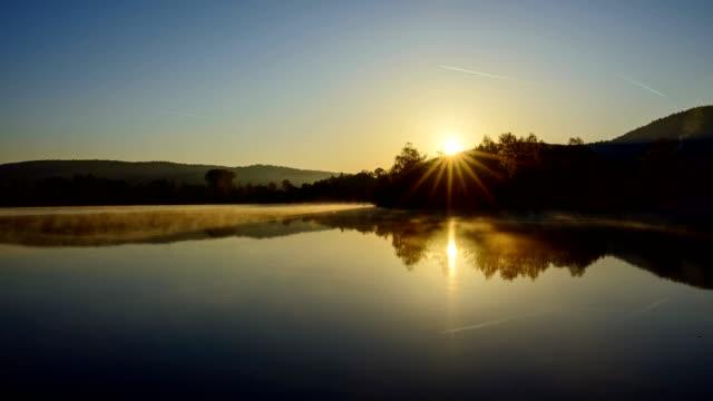 sunrise at the lake in spring, freudenberg, baden wurttemberg, germany - north rhine westphalia stock videos & royalty-free footage