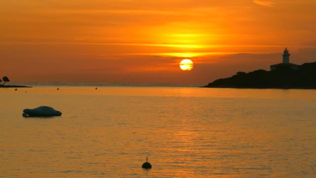 Sunrise at the Lighthouse in Alcanada near Port d' Alcudia, Majorca, Balearic Islands, Spain