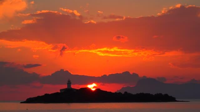 Sunrise at the lighthouse of Alcanada, Alcudia, Majorca, Balearic Islands, Spain, Mediterranean, Europe