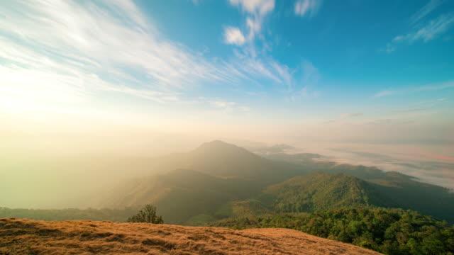 Sunrise at the mountains landscape