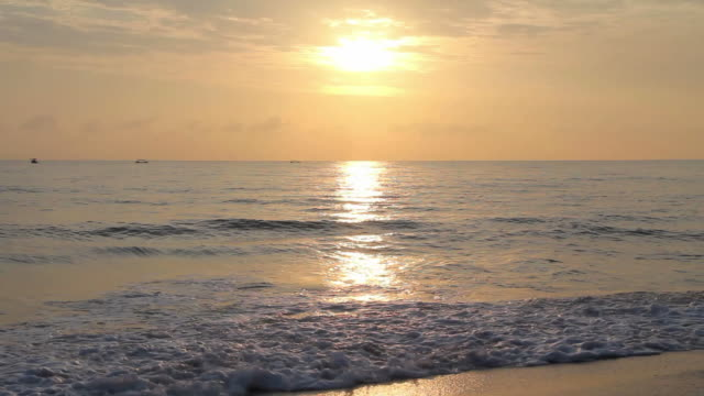sunrise at the sea. - songkhla province stock videos and b-roll footage