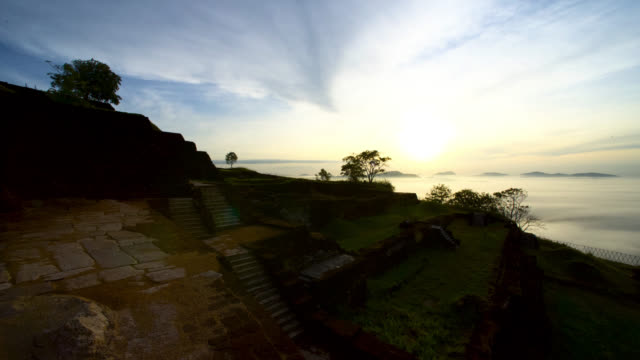 sunrise at the top of sigiriya, sri lanka, - sri lankan culture stock videos & royalty-free footage
